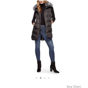 Puffer Vest with faux fur collar